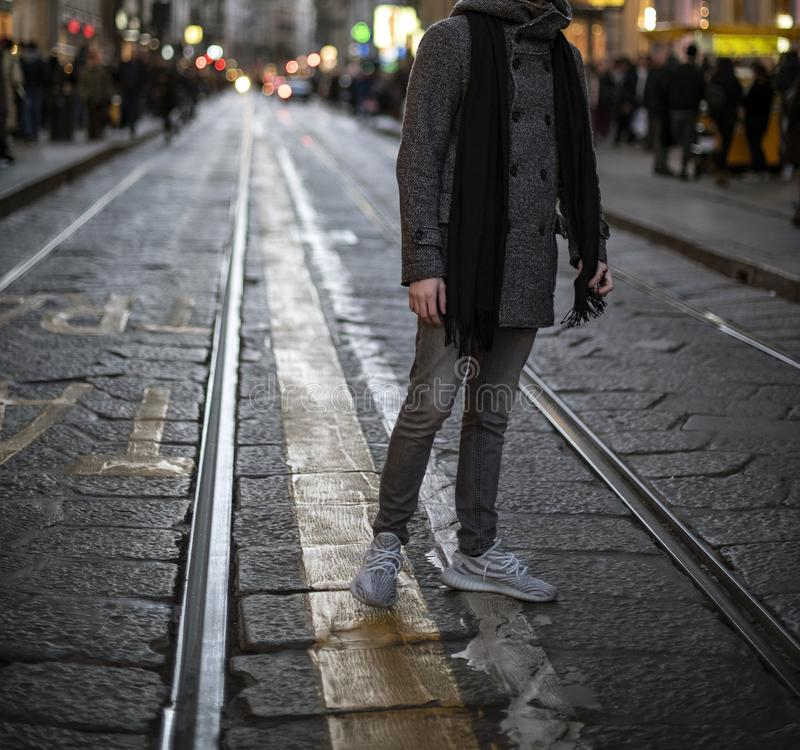 Adidas Yeezy fotografia stock libera da diritti