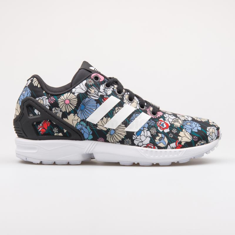 san francisco 0840d 9a836 Adidas ZX Flux Black And Floral Print Sneaker Editorial ...