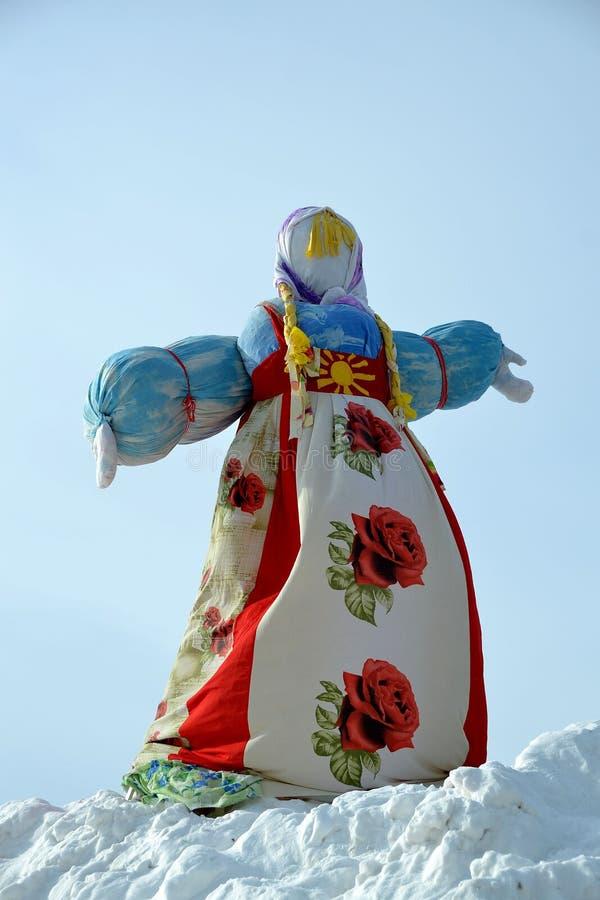 Adieu à l'hiver en Russie - Mardi Gras photographie stock libre de droits