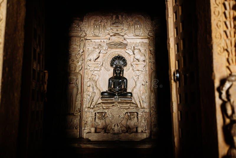 Adinath Jain świątynia Wschodnia grupa świątynie, Khajuraho, Madhya zdjęcie royalty free