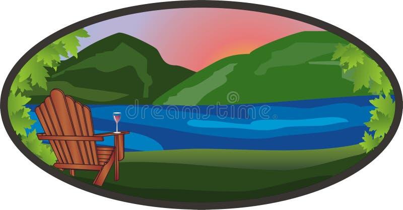 adirondack θέα βουνού στοκ εικόνες