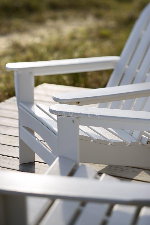 Adirondack chairs. royalty free stock photography