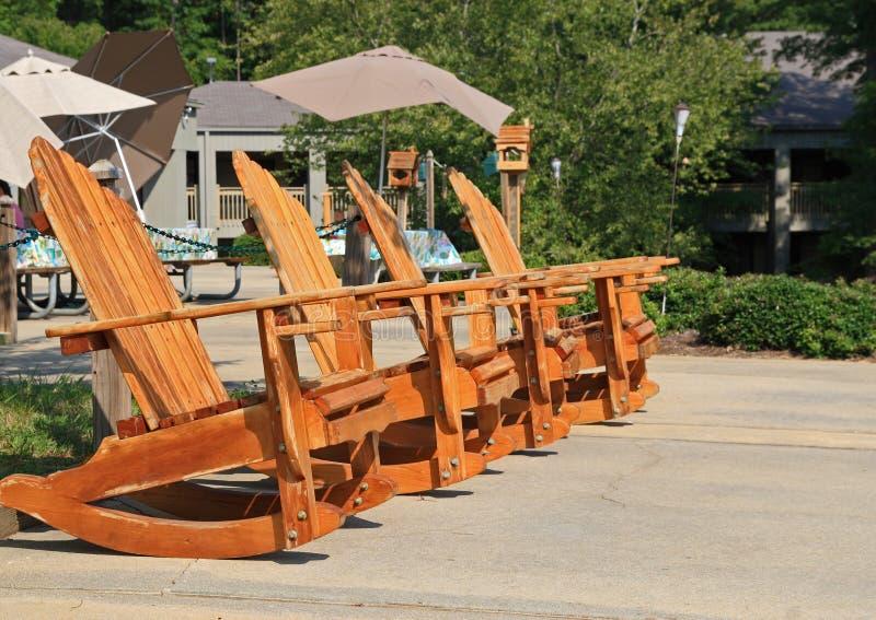 adirondack chairs royaltyfria bilder