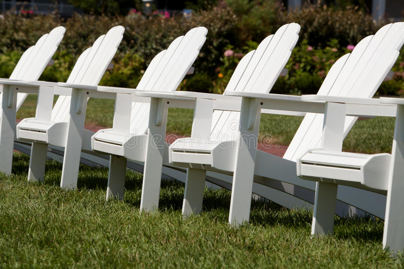 Download Adirondack Chairs In A Garden Stock Image - Image: 16820539