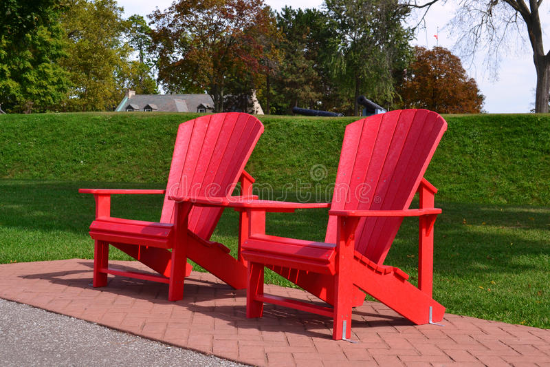 Adirondack chairs royalty free stock image
