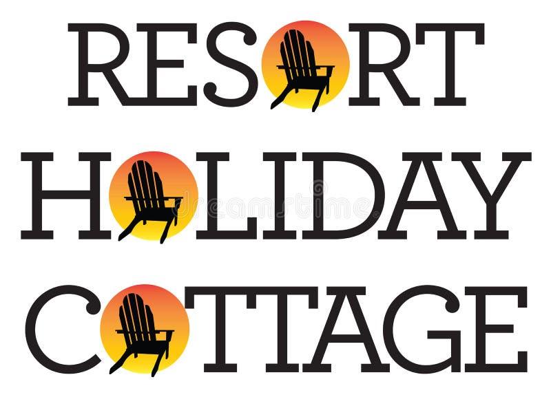 Adirondack krzesła wakacje grafika ilustracji