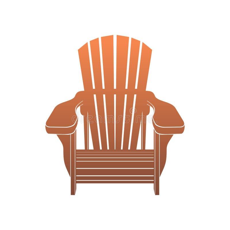 Adirondack Muskoka krzesła wektor royalty ilustracja