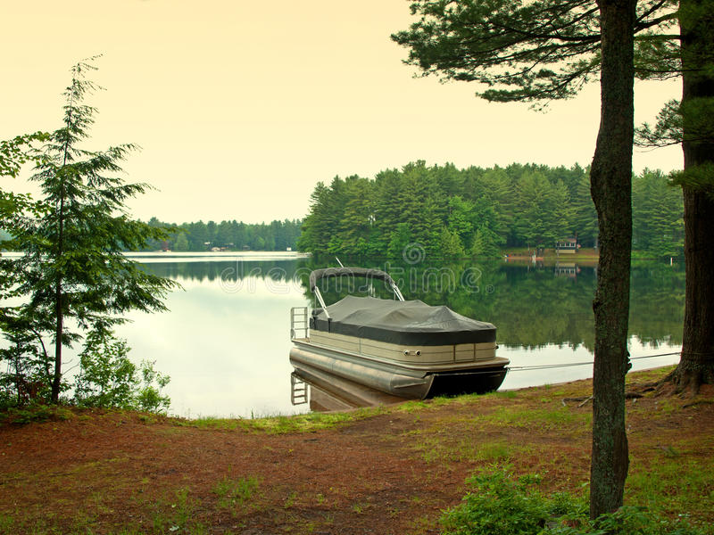 Download Adirondack scene stock photo. Image of water, camps, boat - 25230608
