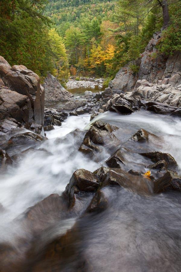 Adirondack-Wasserfall im Herbst lizenzfreie stockbilder