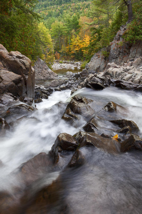 Free Adirondack Waterfall In Autumn Royalty Free Stock Images - 60352739