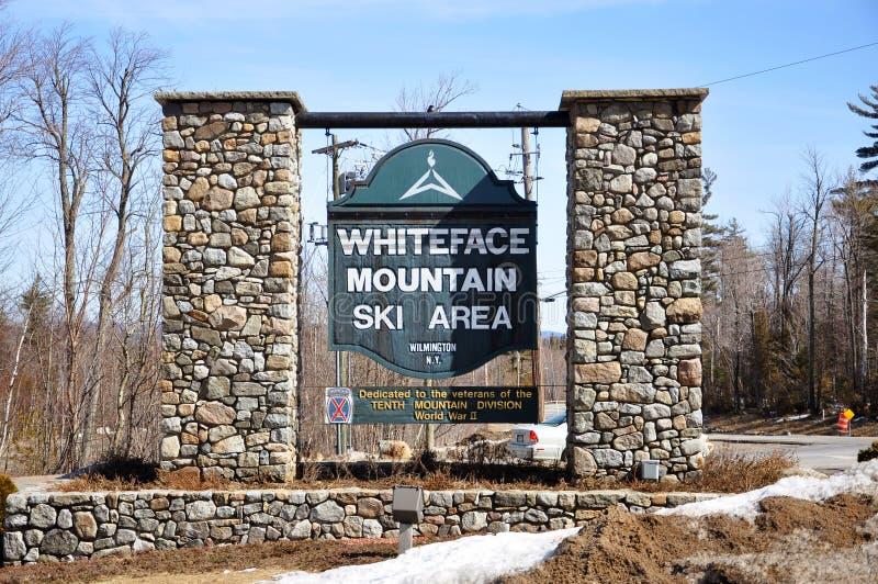 adirondacks σκι βουνών περιοχής whiteface στοκ φωτογραφία με δικαίωμα ελεύθερης χρήσης