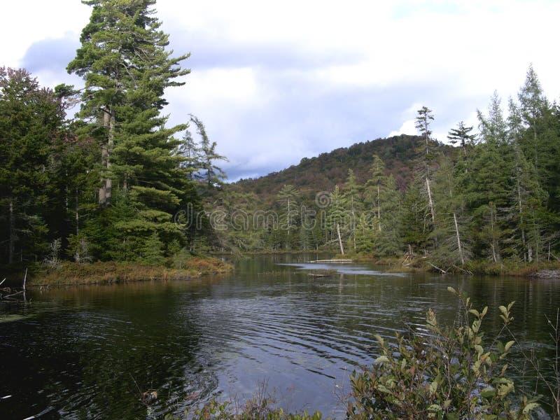Adirondacks, lago Durant, NY immagine stock
