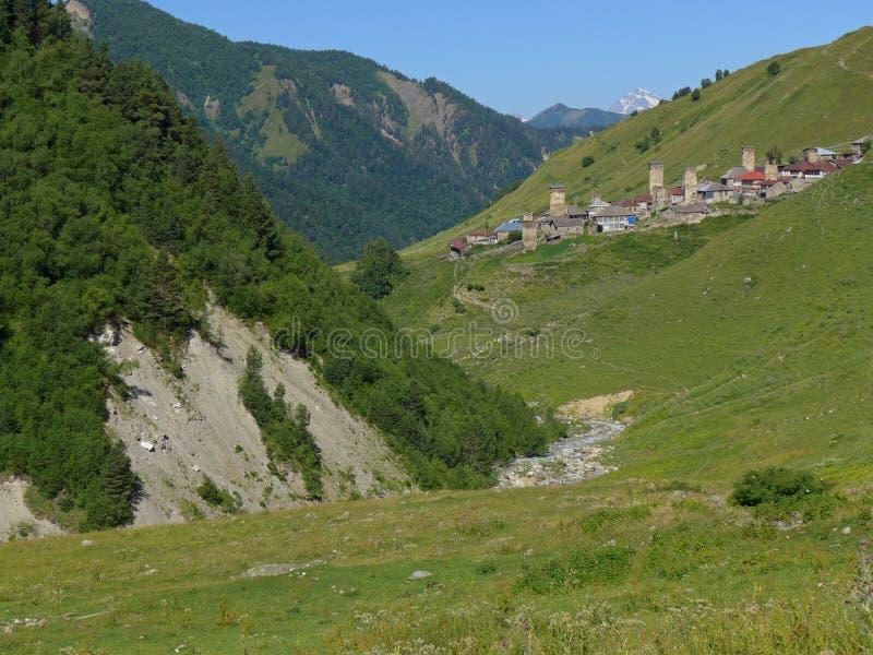 Adishi, Svanetia, Georgia imagen de archivo