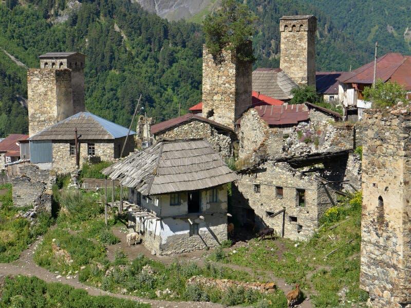 Adishi, Svanetia, la Géorgie image libre de droits