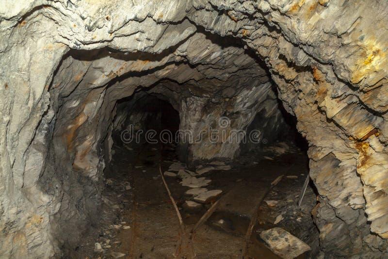 Adit da mina da ardósia de Cwmorthin fotografia de stock