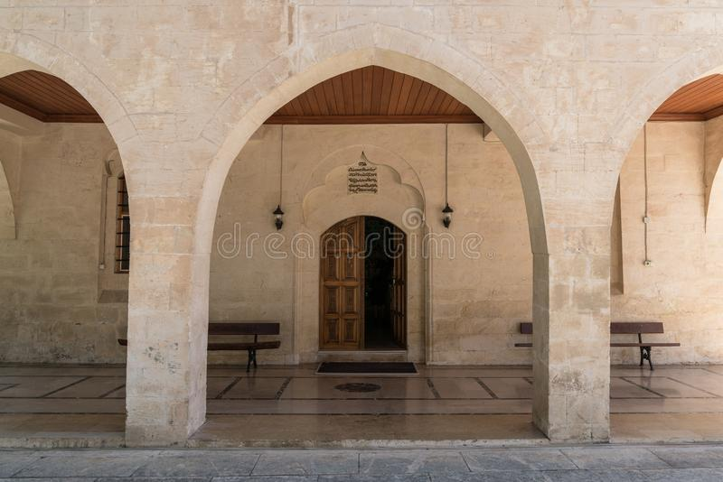 Entrance of Mor Petrus and Mor Pevlus church in the city of Adiyaman, Turkey royalty free stock photos