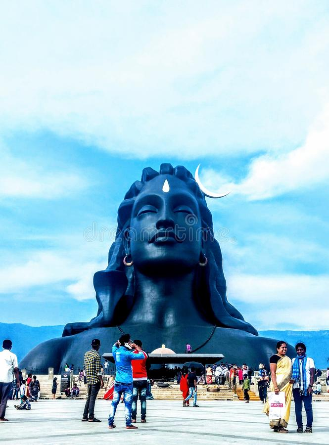 Adiyogi la statua di shiva a Coimbatore Tamil Nadu India immagine stock