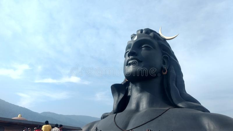 Adiyogi shiva statua Coimbatore tamil nadu India obrazy stock