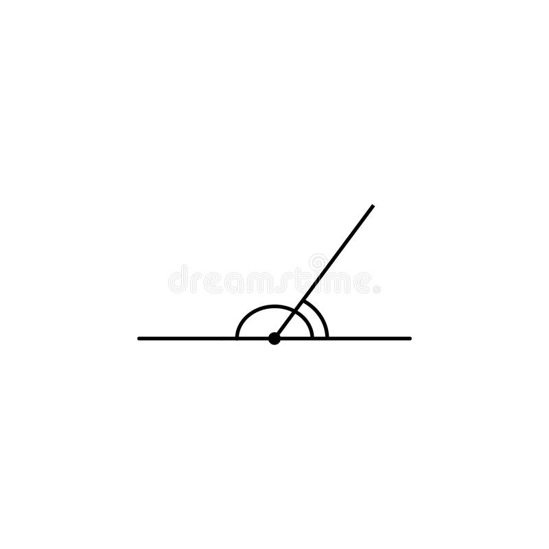 Adjacent angles icon. Geometric figure Element for mobile concept and web apps. Thin line icon for website design and development. App development on white stock illustration