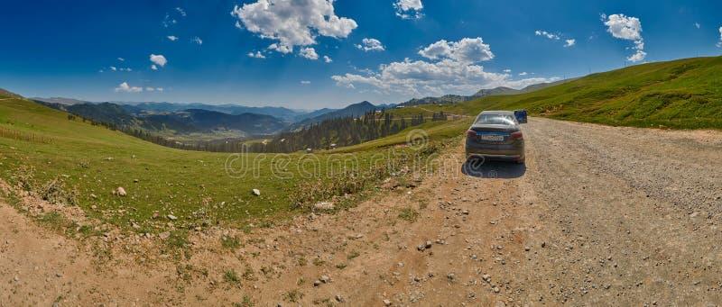 ADJARA, GRUZJA - 08 2017 SIERPIEŃ: Krajobrazowa panorama Akhaltsikhe fotografia royalty free