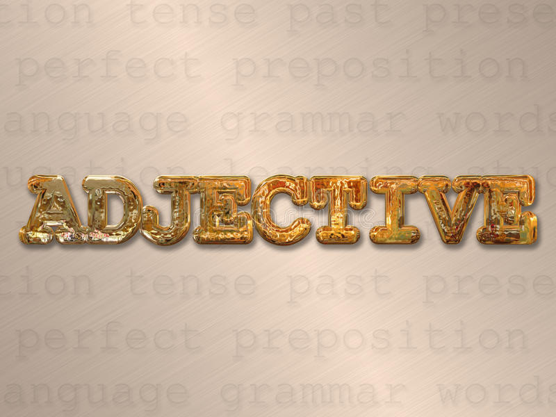 Adjektivkonzept lizenzfreie abbildung