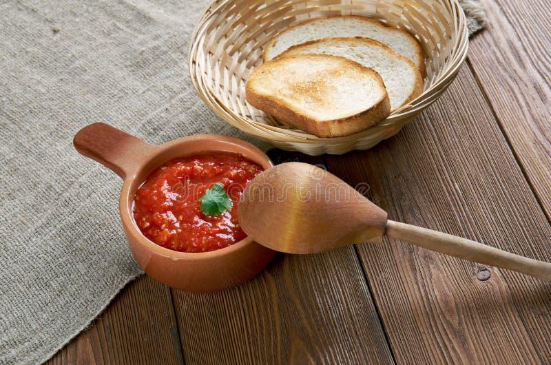 Adjika ruso de la salsa imagen de archivo libre de regalías
