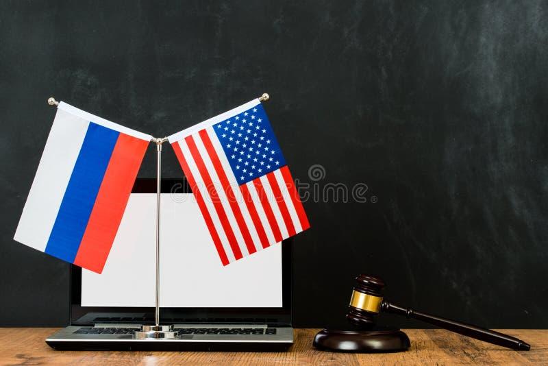 Adjudgement dos EUA e da edição de Rússia imagem de stock