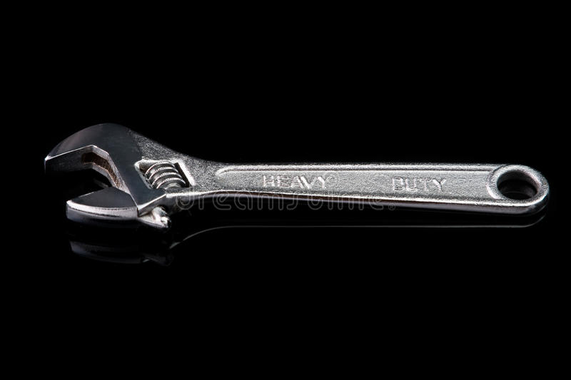 Adjustable chrome wrench.