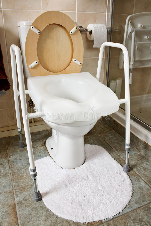 Free Adjustable Height Toilet Seat Royalty Free Stock Image - 31503166
