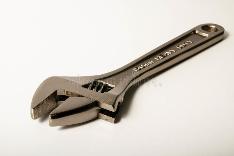 Download Adjustable Silver Wrench On White Stock Image - Image: 28865415