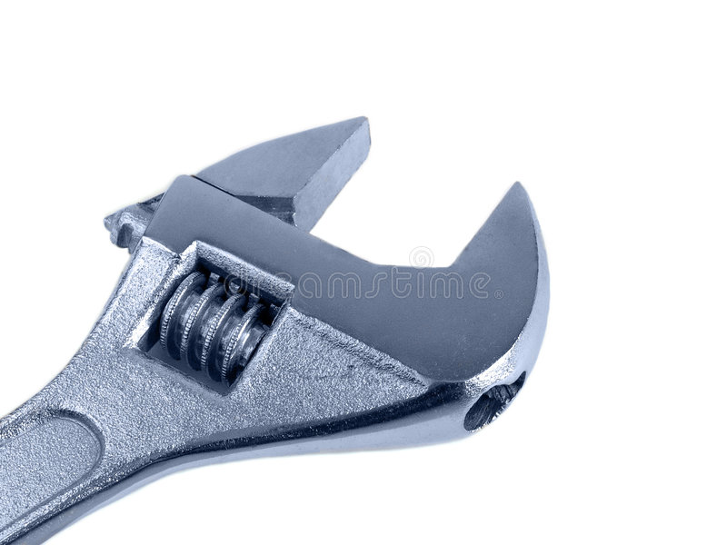 adjustable spanner royalty free stock photo