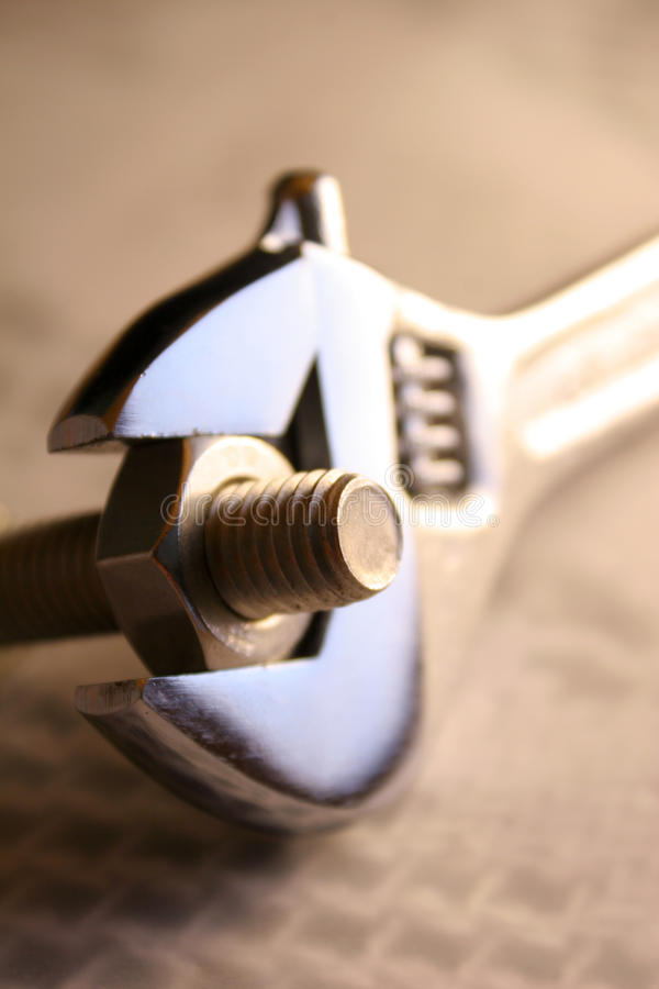 Adjustable spanner royalty free stock photography