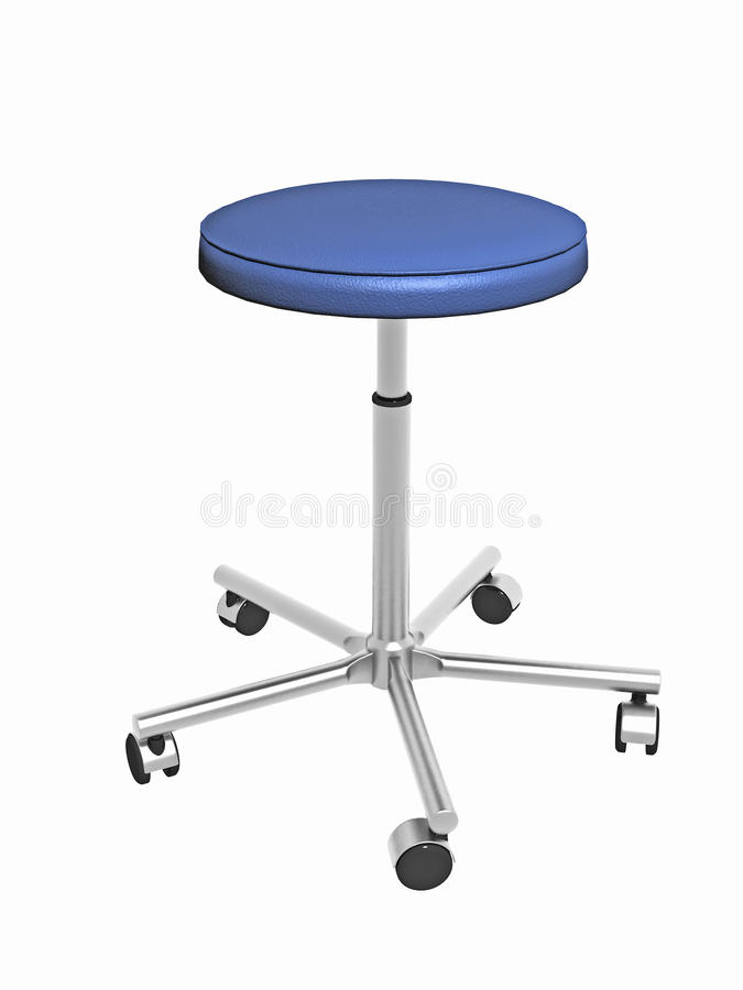 Download Adjustable Stool With Wheels Stock Image - Image: 16634185