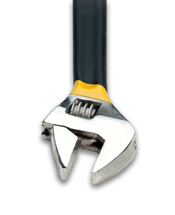Adjustable Wrench on White. Background isolated stock photo