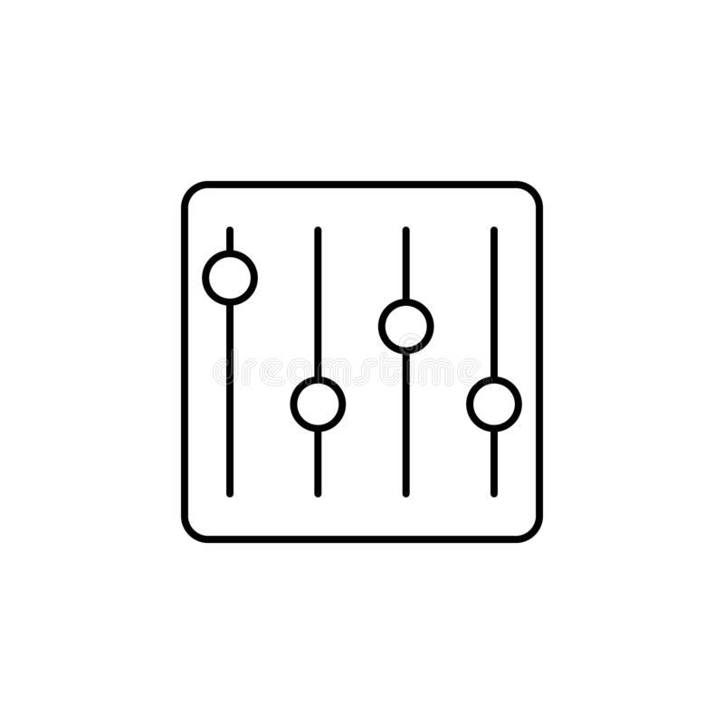 Adjustment configuration tune outline icon. Signs and symbols can be used for web, logo, mobile app, UI, UX stock illustration