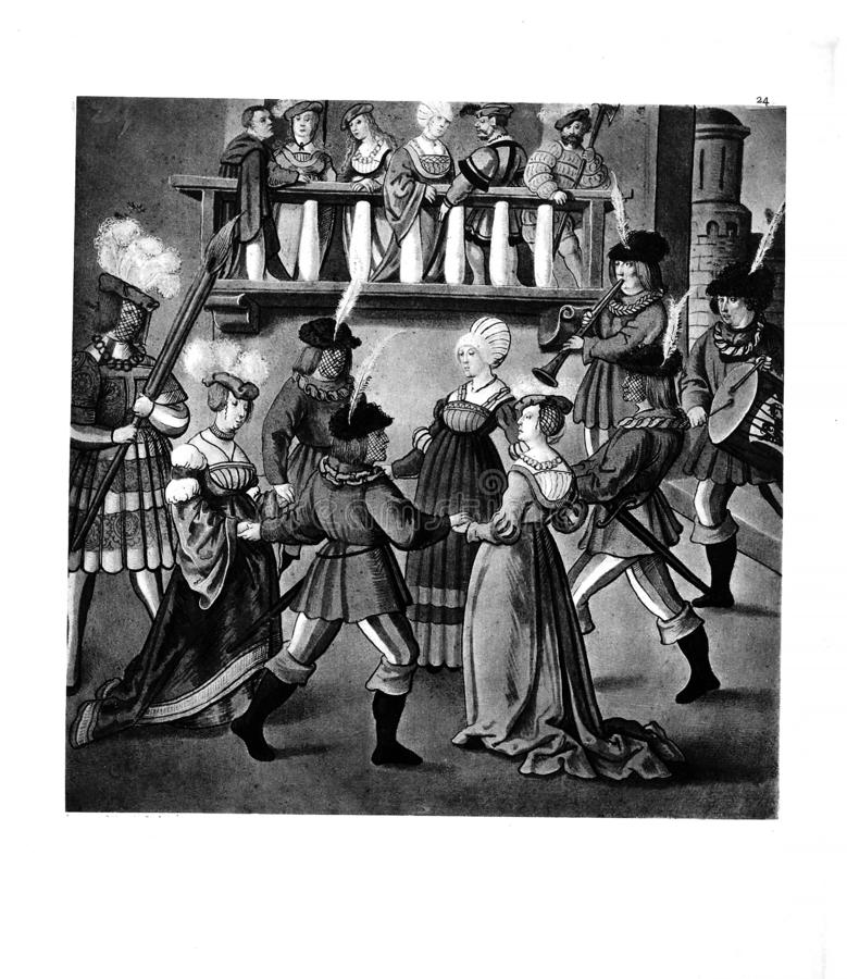 adlar turnering Gammalt avbilda royaltyfri illustrationer