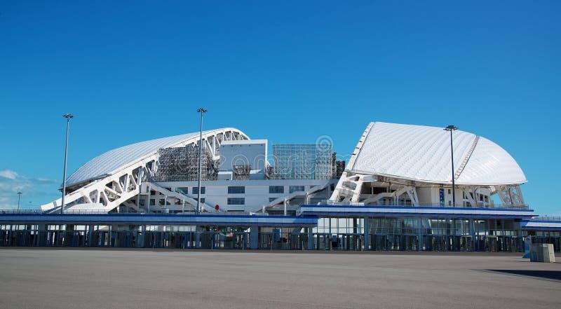 Adler, Россия - 21-ое мая 2017: взгляд стадиона Fisht в o стоковое изображение rf