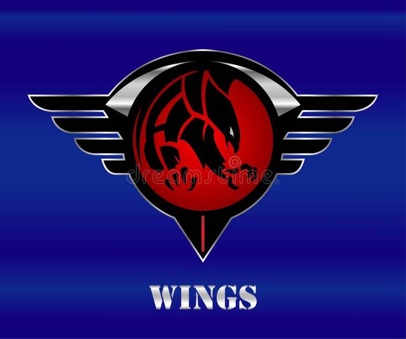 adler Eagle-Landung lizenzfreie abbildung