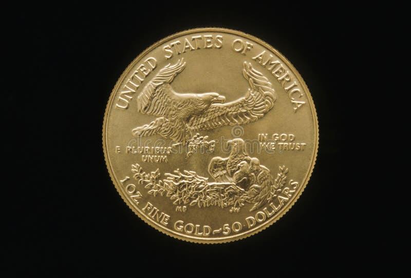 Adler-Goldmünze lizenzfreie stockfotos