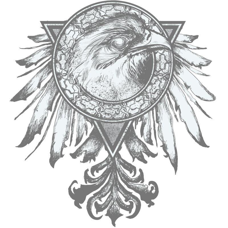 Adler-Kamm-Abbildung stock abbildung