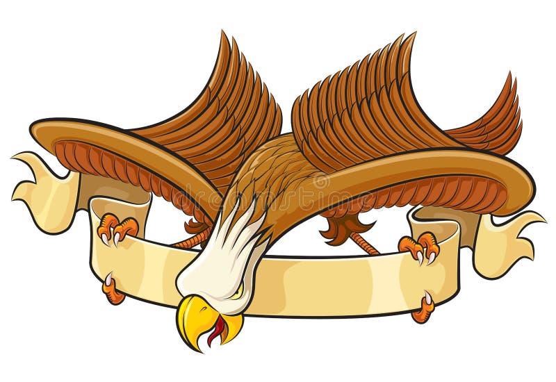 Adler mit Fahne vektor abbildung