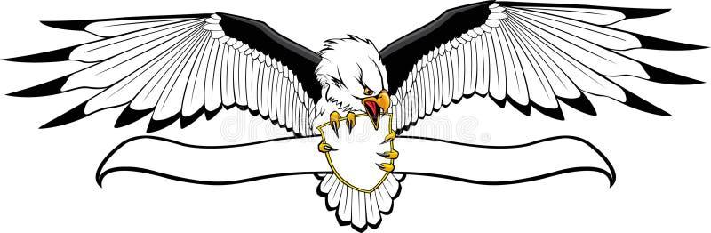 Adler mit Schild und Fahne
