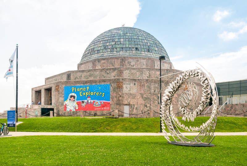 Adler-Planetarium, Chicago, USA stockbild