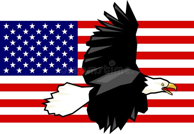 Adler und Markierungsfahne stock abbildung