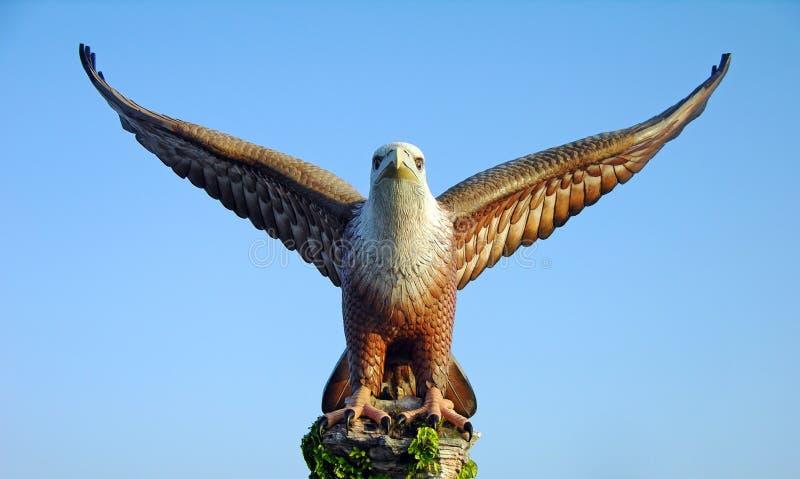 Adlerstatue, das Symbol von Langkawi, Malaysia lizenzfreie stockbilder
