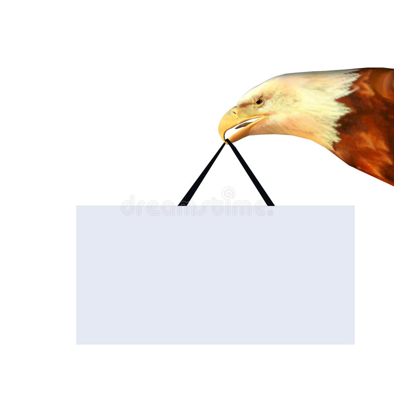 Adlerzeichenvorstand lizenzfreie abbildung