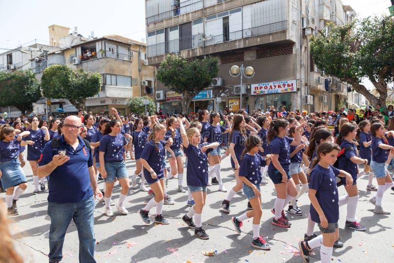 Adloyada Holon. Carnaval de Purim. Israel fotografia de stock