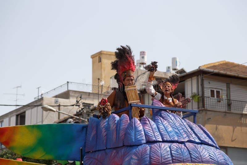 Adloyada Holon. Carnaval de Purim. Israel foto de stock royalty free