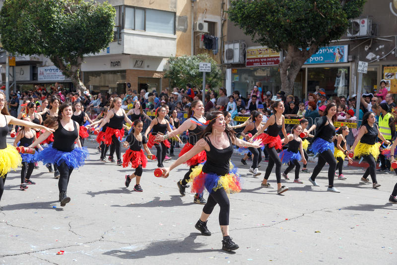 Adloyada Holon. Purim karneval. Israel royaltyfria bilder