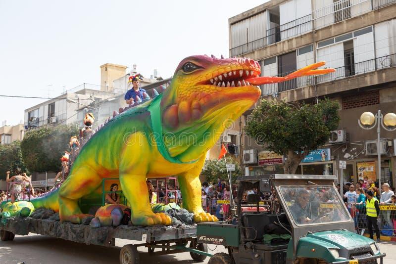 Adloyada Holon. Purim karneval. Israel arkivbild